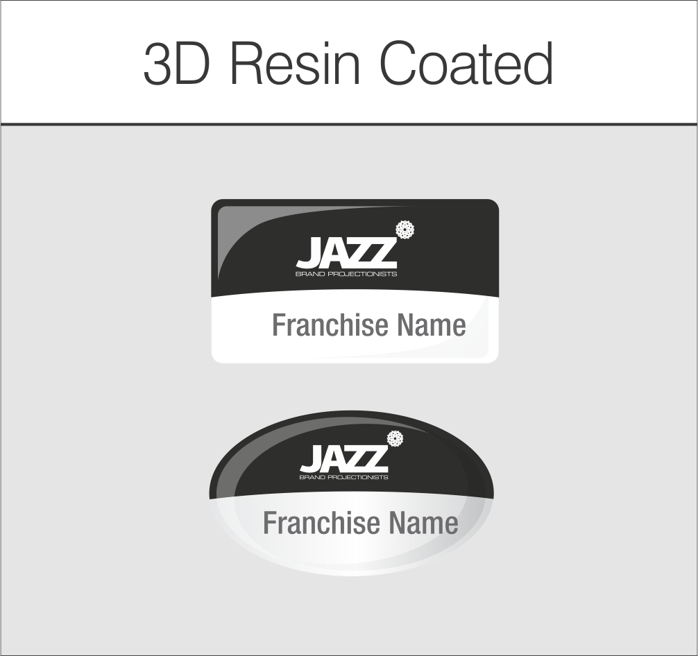 3D Resin Coated Adhesive Labels