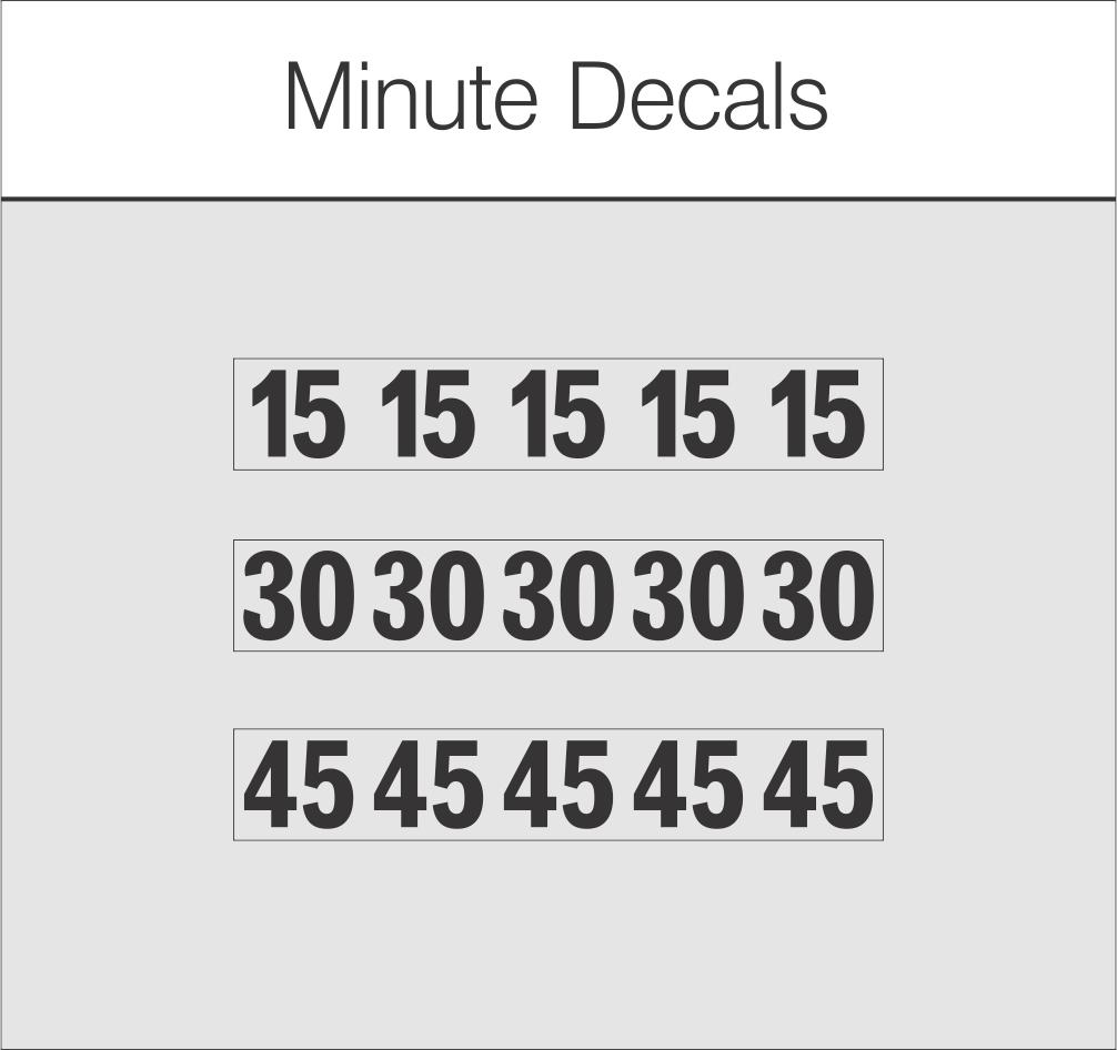 Minute Decals $1.25
