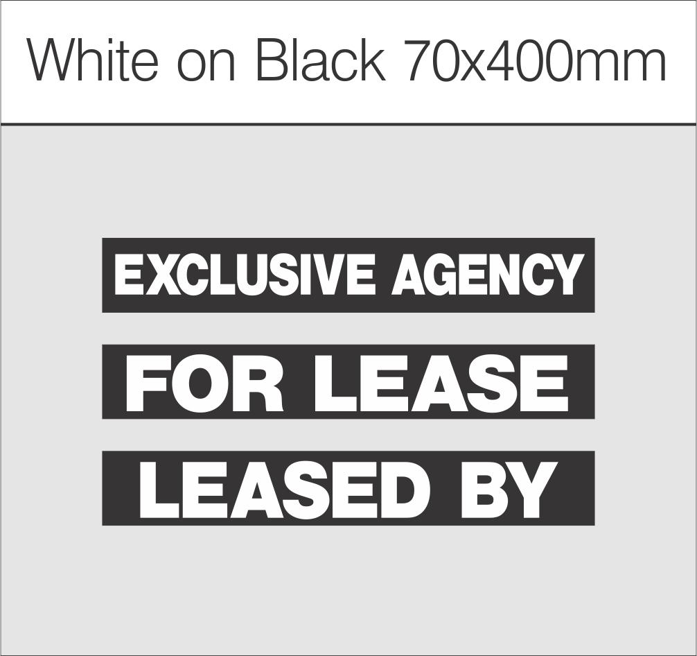 White on Black 70x400mm