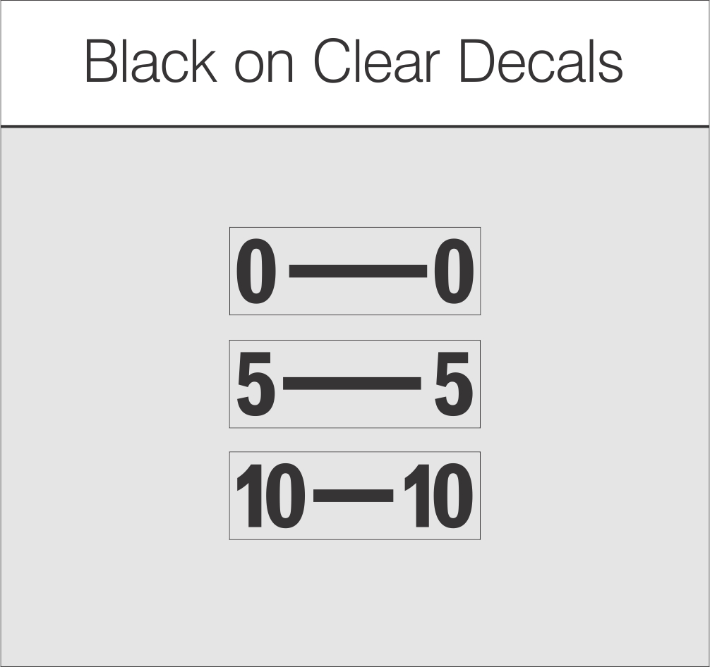 Black on Clear $1.45