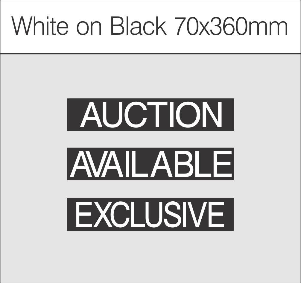 White on Black 70x360mm