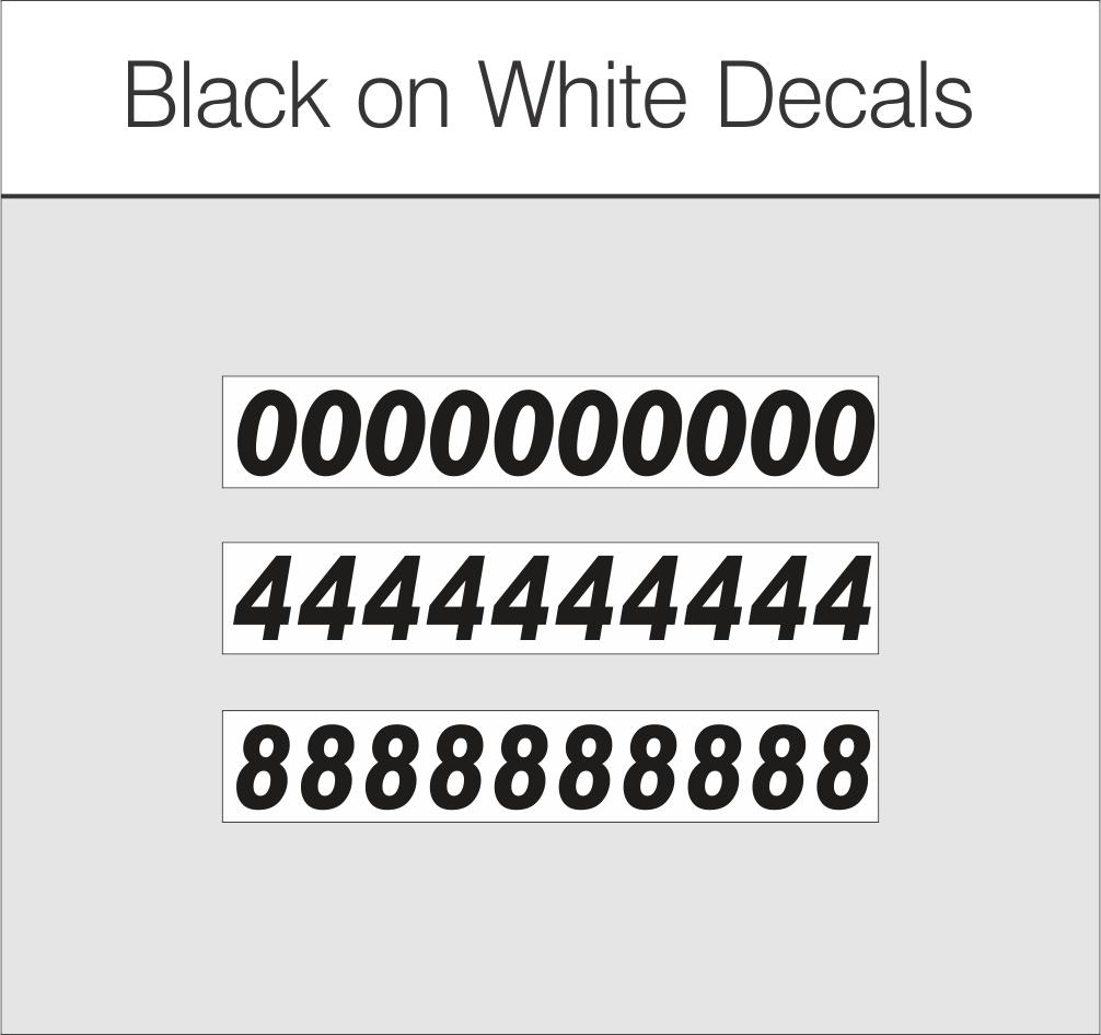 Black on White $1.25