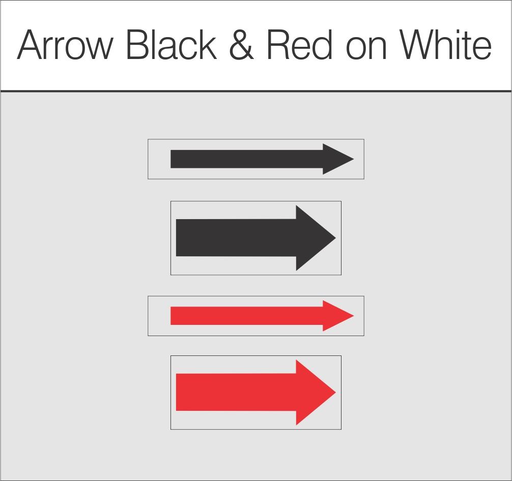 Arrow Black & Red on White