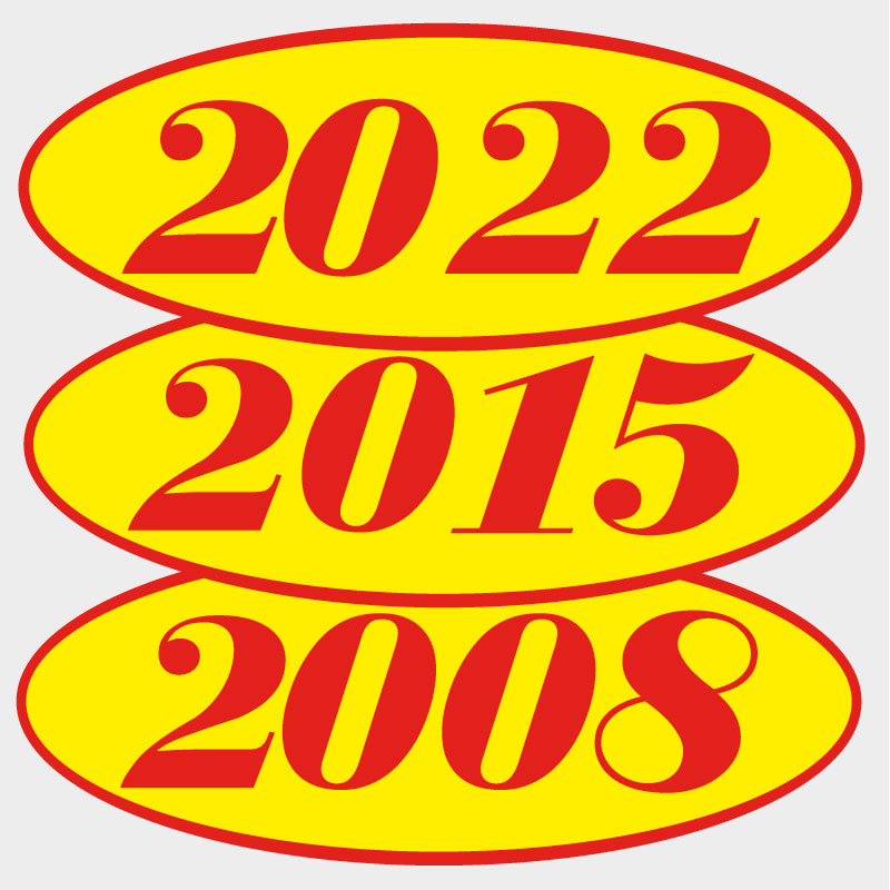 Red / Lime Year Decals