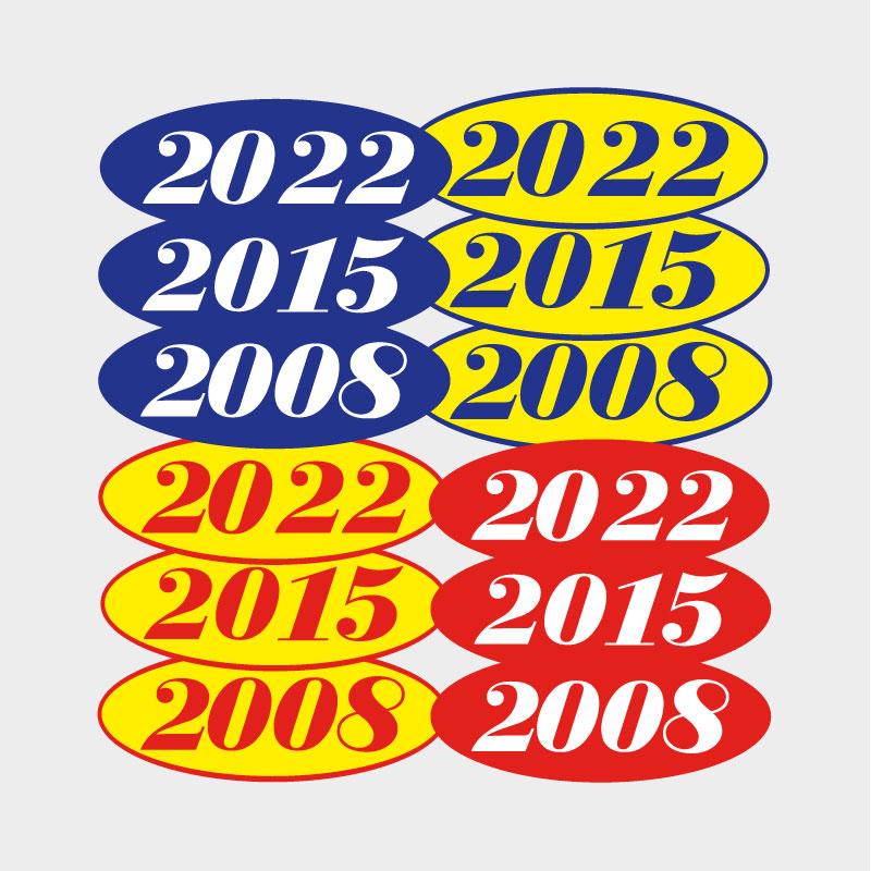Year Decals